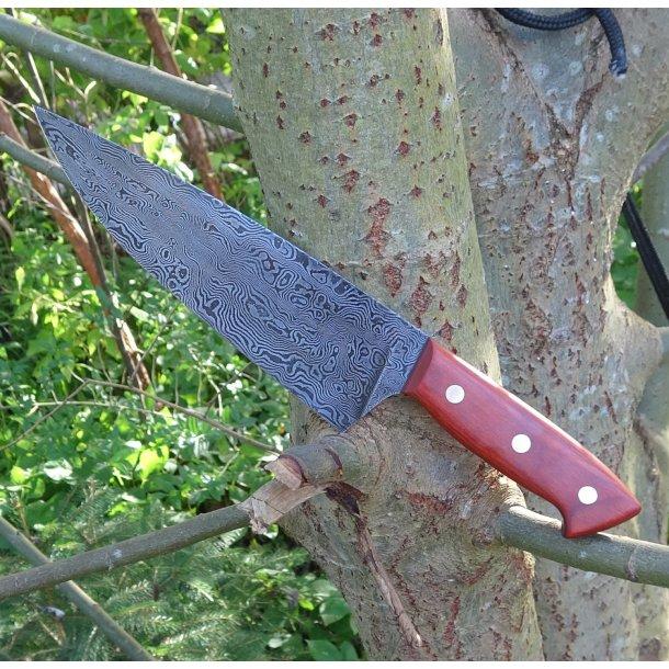 Large Damaskus kitchen knife - Made on order