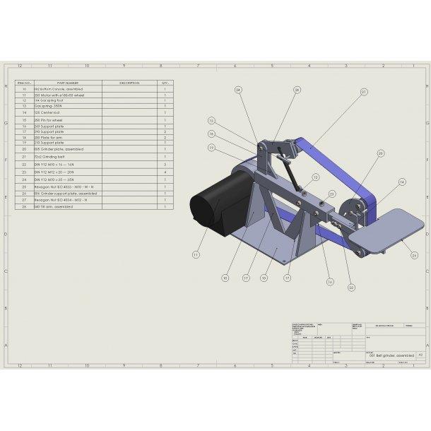 Belt grinder 2x72