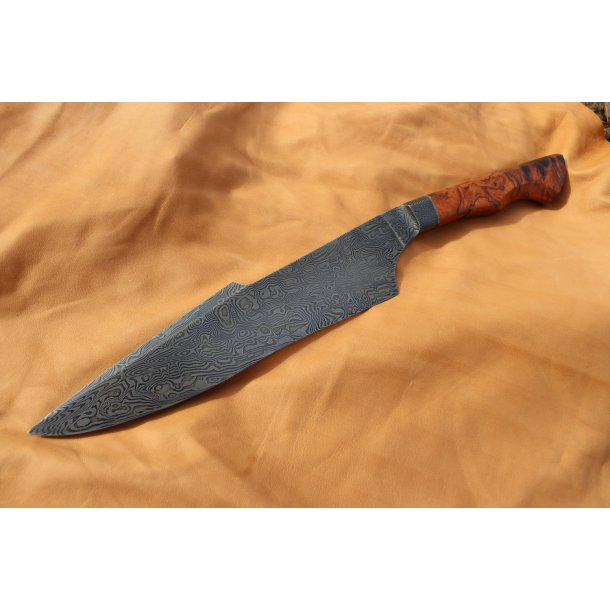 Explosion Damascus Integral Bowie knife  - Handmade - one on stock